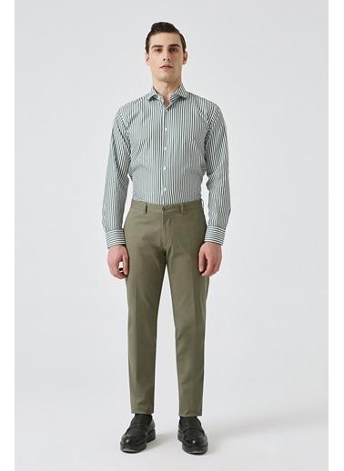 Damat Slim Fit Kemik Chino Pantolon Haki